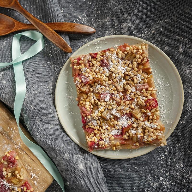 Süße Rhabarber-Pizza