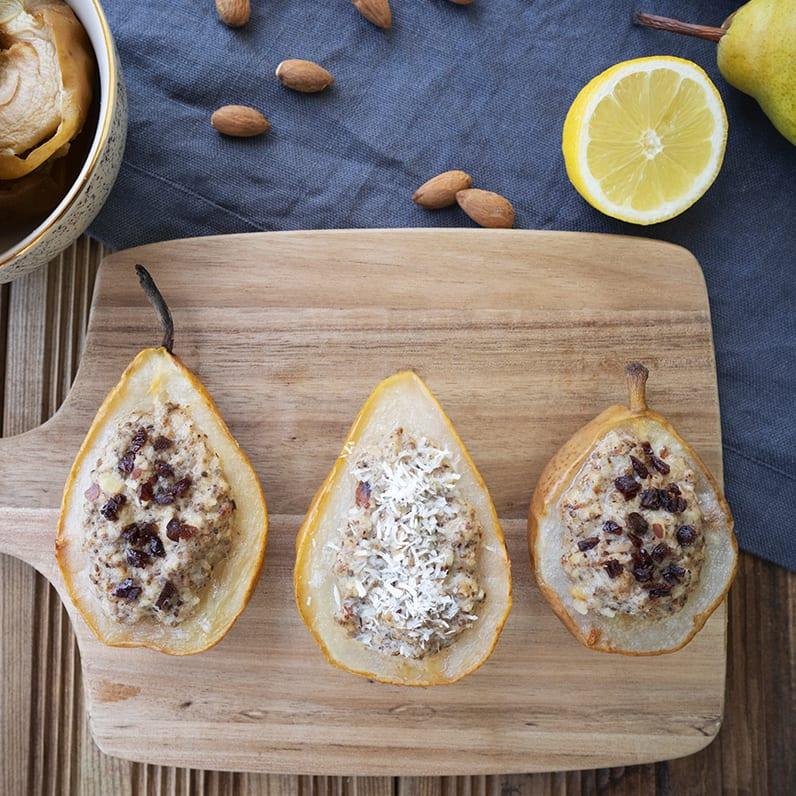 Birnen Porridge mit Kokos