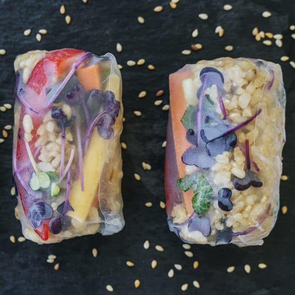 Spring-Rolls mit gekeimtem GABA-Reis