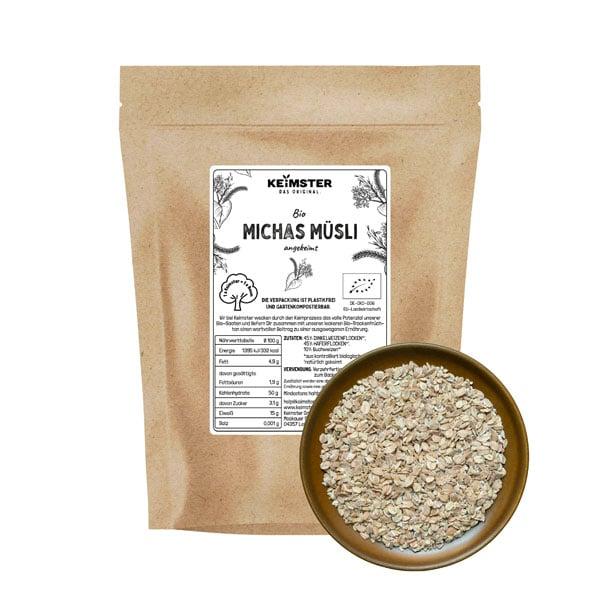 Michas Müsli 3-Körner Müsli gekeimtes Getreide