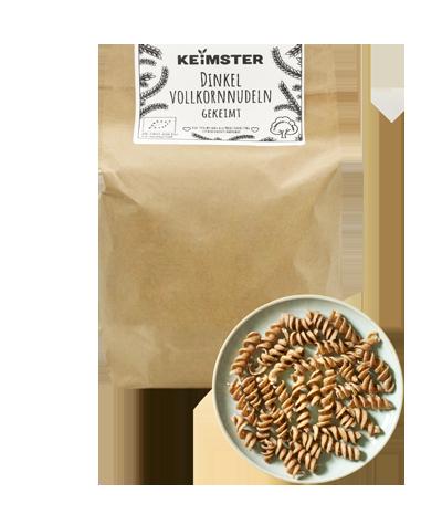 Bio Nudeln aus gekeimtem Getreide