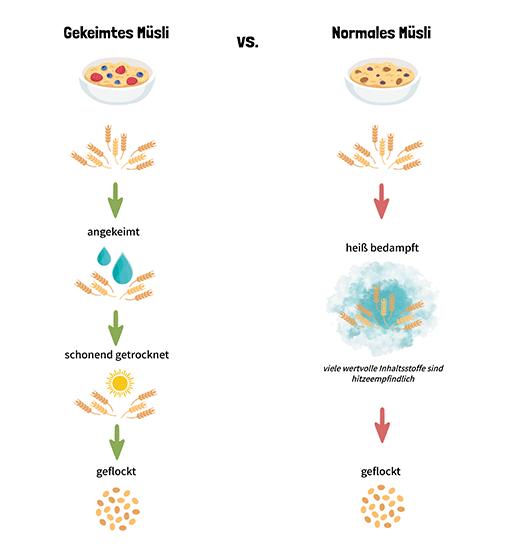 Vorteile von gekeimtem Getreide Müsli
